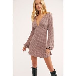 FREE PEOPLE Selin mini dress long sleeve size xs